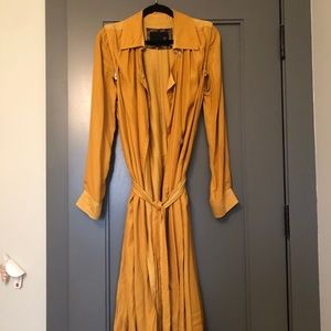BURNING TORCH YELLOW TRENCH JACKET
